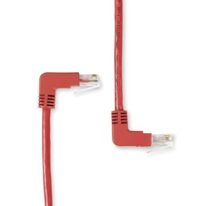 BLACK BOX Patch Cable Angled CAT6 UTP - 0.3m Red Factory Sealed (EVNSL236-0001-90DU)