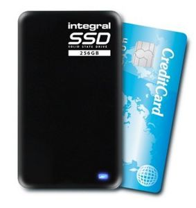 256GB Portable SSD - USB 3.0 credit card size Up to 230/ 140MB/ s
