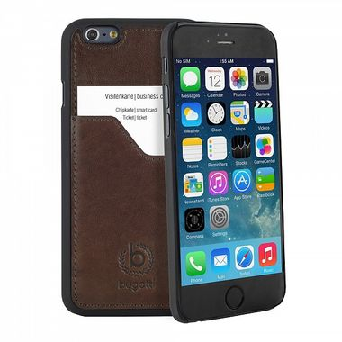BUGATTI CLIPONCOVER LEATH.PREM FOR APPLE IPHONE6 BROWN ACCS