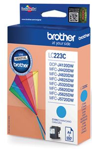 BROTHER Ink Brother LC223CBP cyan blister pack |550pgs| MFC-J4420DW/ MFC-4620DW/ MFC-J5320 (LC223CBP)