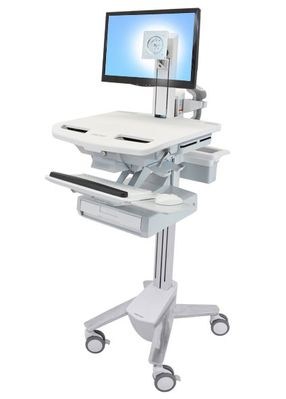 STYLEVIEW CART WITH LCD PIVOT 1 DRAWERS