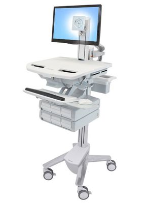 STYLEVIEW CART WITH LCD PIVOT 6 DRAWERS