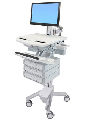 STYLEVIEW CART WITH LCD PIVOT 9 DRAWERS