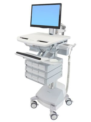 STYLEVIEW CART WITH LCD PIVOT SLA POWERED 9 DRAWERS EU