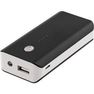 Powerbank,  5200mAh, USB 5V 1A, svart