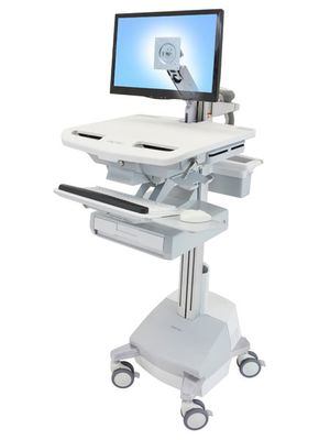 STYLEVIEW CART WITH LCD ARM SLA POWERED 1 DRAWER EU
