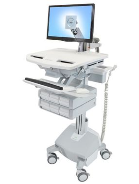 STYLEVIEW CART WITH LCD ARM, LIFE POWERED 6 DRAWERS SAU-EU CRTS
