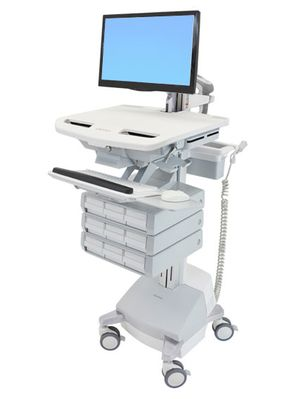 STYLEVIEW CART WITH LCD ARM SLA POWERED 9 DRAWERS EU