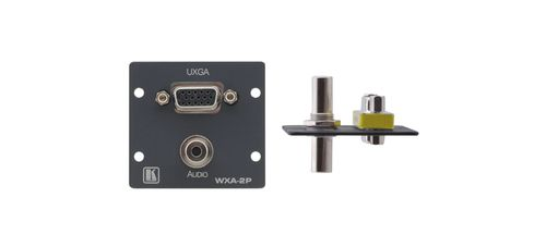 KRAMER WXA-2P(G) WALL PLATE INSERT - 15-PIN HD & 3.5MM (85-70580099)