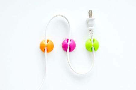 BLUELOUNGE CableDrop Bright Colors: orange, purple, green (CD-BR)