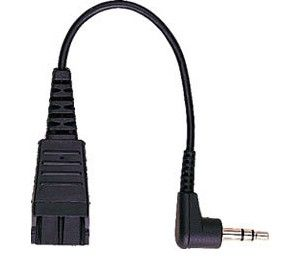 JABRA QD Cord to 2x 3.5mm pin plug 15cm straight for Agfeo T15 ST15 Auerswald Comfort 300 (8734-749)