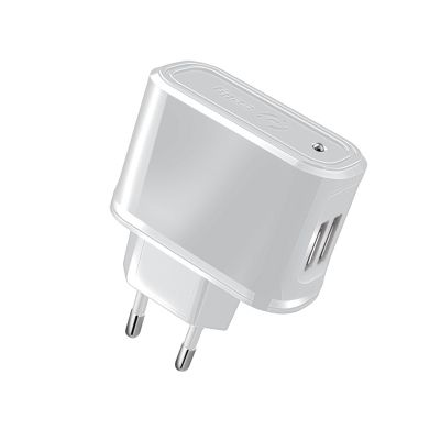 (TRAVELCHARGER 2.1A TWO USB WH)