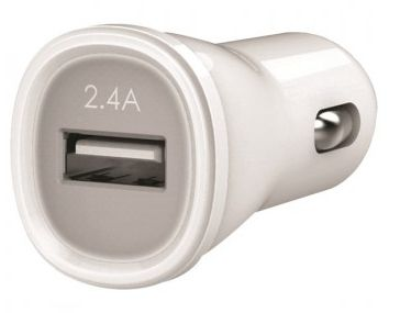 USB Car Charger 2,4A white