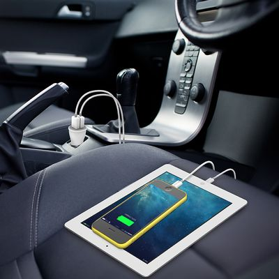 Dual USB Car Charger white
