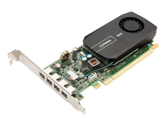 2 GB NVIDIA Quadro NVS 510 (Half Height, 4mDP) (4mDP-DP adapters) (Kit)