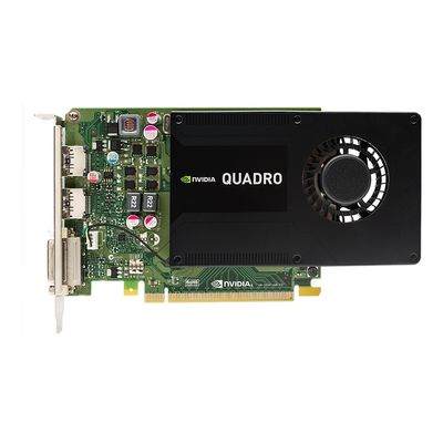NVIDIA Quadro K2200 4GB (2 DP, DL-DVI-I) (1 DP to SL-DVI adapter) (Kit)