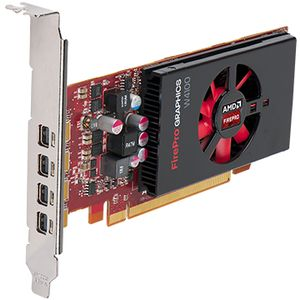 DELL AMD FirePro W4100 2GB Half Height (4 DP) (4 mDP-DP adapters) (KIT) (490-BCIY)