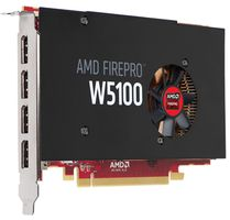 AMD FirePro W5100 4GB (4 DP) (2 DP to SL-DVI adapters) (Kit)