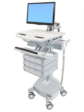 STYLEVIEW CART WITH LCD ARM, LIFE POWERED 9 DRAWERS SAU-EU CRTS