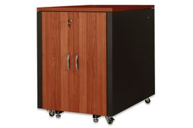 SOUNDPROOF CABINET CHERRY METAL PARTS BLACK RAL9005 ACCS