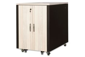SOUNDPROOF CABINET MAPLE METAL PARTS BLACK RAL 9005 ACCS