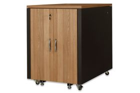 SOUNDPROOF CABINET TEAK METAL PARTS BLACK RAL 9005 ACCS