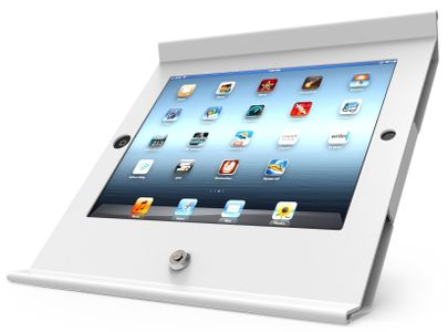 COMPULOCKS Slide Enclosure iPad Mini POS Stnd White (250MPOSW)