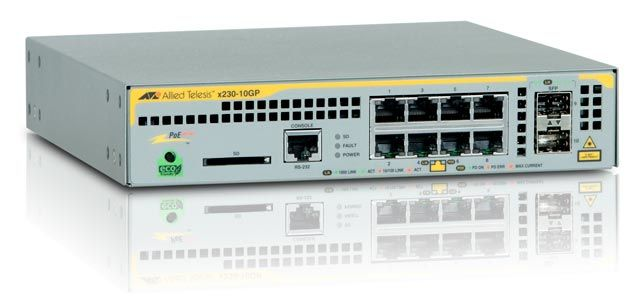AT-X230-10GP-50 L2+ SWITCH 8 X 10/ 100/ 1000MBPS POE PORTS IN