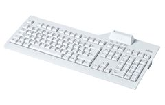 FUJITSU SmartCard keyboard nordic with class 2 reader on the top. Without security seal. VOL up, VOL down, Play/ Pause and calculator multifunction keys, fixes USB cable 1.8m, manual, driver DVD, USB 2.0