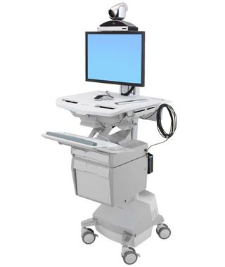 STYLEVIEW TELEMEDICINE CART WITH SINGLE MONITOR SLA EU CRTS