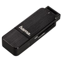 USB 3.0 Multi Card Reader SD/ microSD Alu black 123901