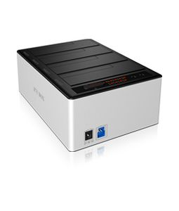 "ICY BOX Docking and cloning Station 4xBay, 2, 5""+3.5"",  SATA, SSD/HDD, USB 3.0, Clone, Hot Swap, Aluminum, IB- 141CL-U3 (20919)"