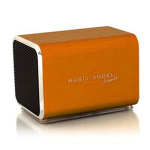 Music Angel Angel Friendz Orange Mini stereo høyttaler i aluminium (JH-MD04E2-ORANGE)