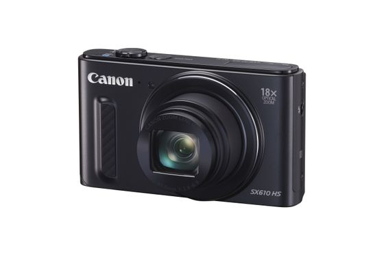 PowerShot SX610 Sort 20 MP, 18X Zoom, 25mm, WiFi, NFC, Full HD