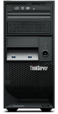 ThinkServer TS140 70A4 - Server - tower - 4U - 1-vägs - 1 x Xeon E3-1226V3 / 3.3 GHz - RAM 8 GB - HDD 2 x 1 TB - DVD-Writer - HD Graphics P4600 - GigE - Bildskärm : ingen - TopSeller