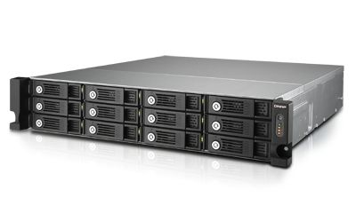 QNAP - TVS-1271U-RP-I5-16G 2U 12BAY 3,0GHZ QC 4XGBE 4XUSB3 0 RPS IN EXT