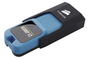 Flash V Slider X2 64GB USB 3.0, blue housing