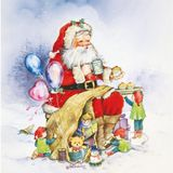 HERMA Window Herma Decoration Santa Claus and family 30 x 30 mm