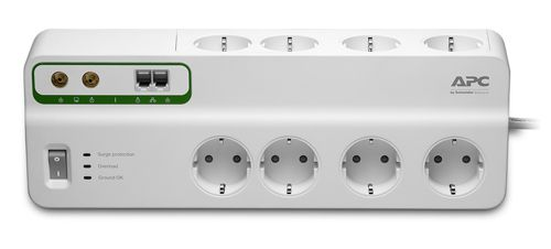 APC Performance SurgeArrest 8 outlets with Phone & Coax Protection 230V Germany (PMF83VT-GR)