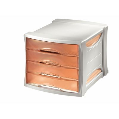Drawer cabinetEuropost transparent Peach