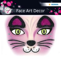 Face Art Decor Pink Cat