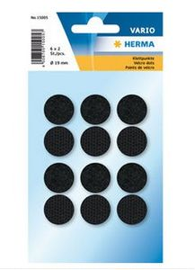 HERMA Hook + loop black ø19 (6) (15005*10)