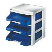 LEITZ Letter tray rack  Plus-3 blue trays