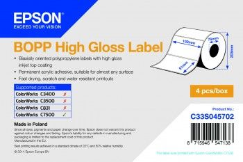 BOPP HIGH GLOSS DIE-CUT 102MMX51MM 2770 LBLS SUPL