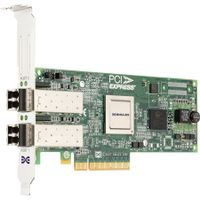 Emulex LPE-12002 - Värdbussadapter - PCI Express 2.0 x8 låg - 8Gb Fibre Channel x 2 - för PowerEdge R320, R410, R415, R420, R515, R520, T410, T420, T610, T620, PowerVault DL2200