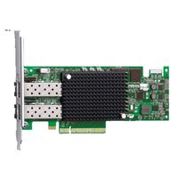 Emulex LightPulse LPe16002B - Värdbussadapter - 16Gb Fibre Channel x 2 - för PowerEdge R630, R730, R730xd, T630