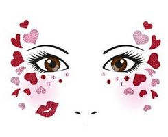 Face Art Decor Love
