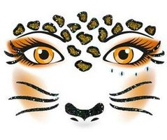 Face Art Decor Leopard