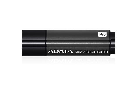 A-DATA ADATA memory S102 Pro 128GB USB 3.0 Titanium Gray (Read/ Write 100/ 50MB/ s ) (AS102P-128G-RGY)