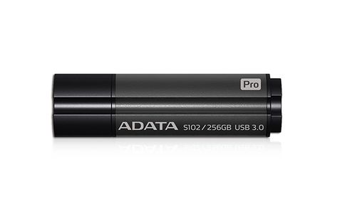 A-DATA ADATA memory S102 Pro 256GB USB 3.0 Titanium Gray (Read/ Write 200/ 120MB/ s ) (AS102P-256G-RGY)